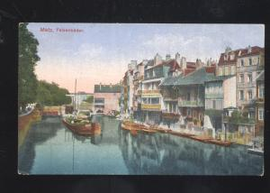 METZ FEISENBADER GERMANY GERMAN ANTIQUE VINTAGE POSTCARD CANAL