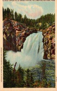 Yellowstone National Park Upper Falls Grand Canyon Curteich