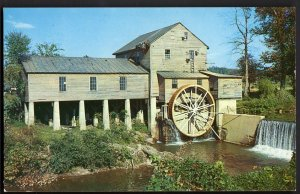 32420) TN Pigeon River Water Mill PIGEON FORGE Great Smoky Mountains NP - Chrome