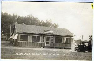 Newport ME Birch Grove Tea Room Tydol Gas Pump Old Cars Real Photo RPPC Postcard