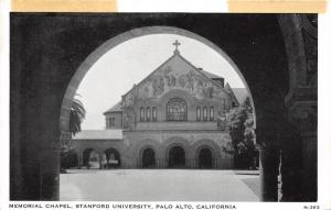 Stanford California~Stanford University~Palo Alto~Memorial Chapel @ Arch~1920s