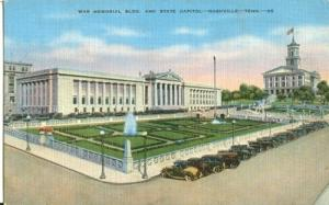 War Memorial Building and State Capitol, Nashville, Tenne...