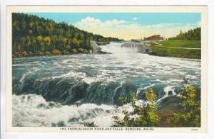 The Androscoggin River and Falls, Rumford, Maine, 1910-20s