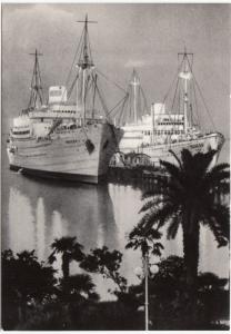 Sukhumi, In the Port, unused Postcard