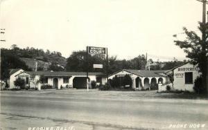 1940s Monterey Court roadside California RPPC Photo Postcard Redding 11815