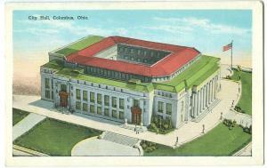 USA, City Hall, Columbus, Ohio, early 1900s unused Postcard