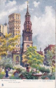 New York City St Paul's Church Broadway Fulton and Vesey Streets Tucks