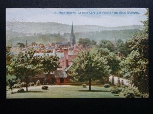Wales MONMOUTH General View from High School c1914 Postcard by Photochrom