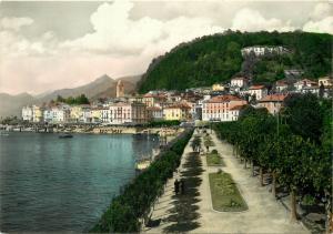 Italy Lago di Como Bellagio 1950s postcard