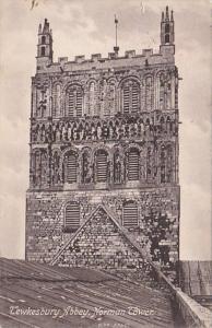 England Tewksbury Abbey Norman Tower
