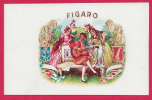 H-015 - Figaro Repro Antique Cigar Box Label Contemporary Picture Postcard
