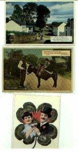 pc747 postcard Ireland Mule Turf Run 1938