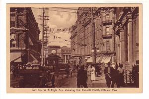 Sparks Street and Elgin Street, Russell Hotel, Nice Car, Ottawa, Ontario, Sep...
