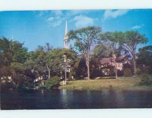 Pre-1980 CHURCH SCENE Cape Cod - Sandwich Massachusetts MA A8667