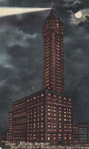 NEW YORK CITY, New York, PU-1908; Singer Building at Night