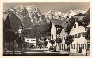 RPPC KUCHL (Salzburg) mit Hoher Göll Austria 1954 2 Stamps Vintage Postcard