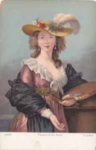 Portrait Of The Artist V Le Brun London Rotograph
