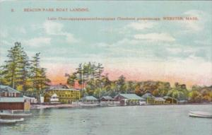 Massachusetts Beacon Park Boat Landing Lake Chargoggagoggmanchaugagoggchaubun...