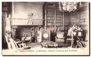 Old Postcard Chateau De Josselin The Library built by Alain Rohan IXde Firepl...