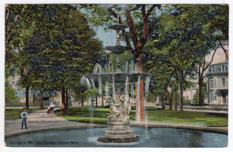 Portland, Me, The Fountain, Lincoln Park