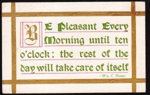 Be Pleasant Every Morning – F. A. Owen Pub Co - Dansville, NY 1910