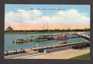 MS Craft Boat Harbor GULFPORT Miss Mississippi Postcard Linen PC Carte Postale