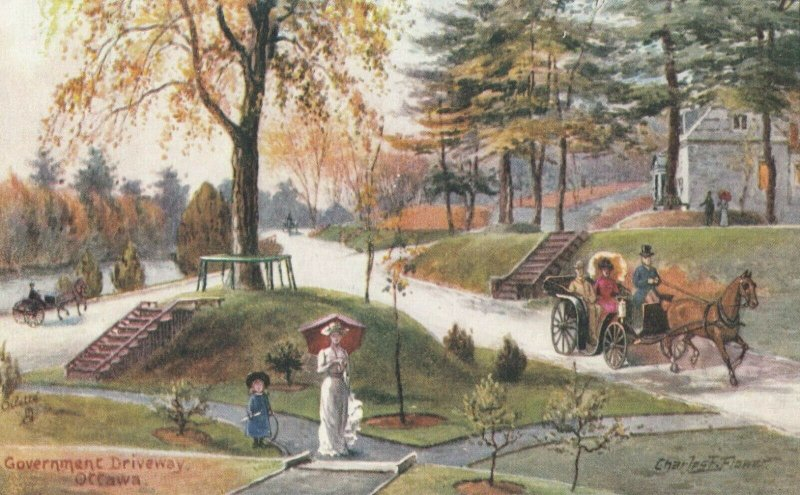 OTTAWA, Ontario, Canada, 1900-10s; Government Drivewayl, TUCK No. 7384