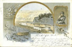 chile, VALPARAISO, Multiview, El Lugar de Aterrizaje, Desembarcadero (1899)