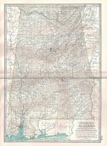 VINTAGE MAP Alabama c1897 from Century Atlas