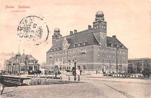 Sweden Old Vintage Antique Post Card Malmo Posthuset 1907