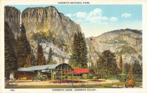 yosemite national park L4649 antique postcard