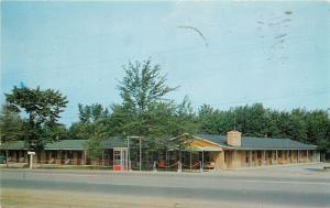 Orchard Park New York~Maple Court~Front Telephone Booth~1956 Roadside Motel