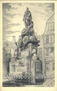 Rouen, France, Carte, Postcard Fontaine Jeanne d'Arc  Fontaine Jeanne d'Arc