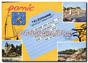 Modern Postcard Pornic Telegram Special Holidays Not A Second To Write Stop