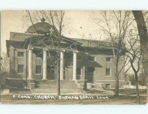 Pre-1920 rppc NICE VIEW Shenandoah Iowa IA i8025