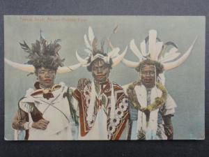 South Africa THREE TYPICAL RICKSHA BOYS c1913 - Bill Hopkns Collection