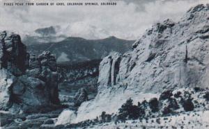 Colorado Colorado Springs Pikes Peak From Garden Of Gods 1947