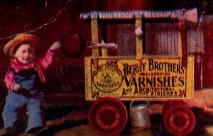 Berry Bros Varnish advertising EV Grant Poughkeepsie fire truck cute kid c1905