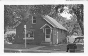 Winnebago Illinois~Telephone Company~Classic Car @ Front~Striped Awning~50s RPPC