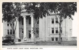 A86/ Wheatland Wyoming Wy Postcard c1910 Platte County Court House