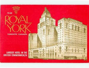 Toronto Canada New Royal Hotel Largest Hotel in British Commonw  Postcard # 5777