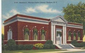 DURHAM, North Carolina, 30-40s; Stanford L. Warren Public Library
