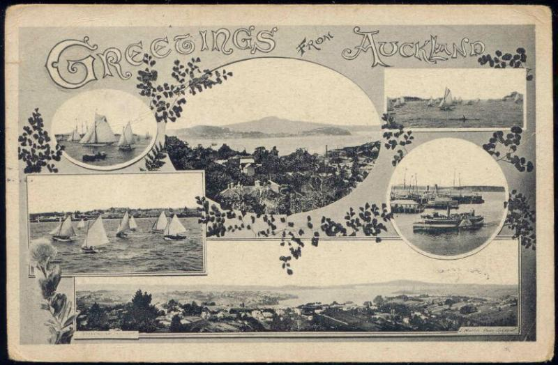 new zealand, AUCKLAND, Multiview (1910)