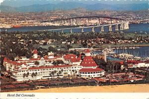 Hotel Del Coronado - exceptional aerial view, San Diego - Coronado Bay Bridge
