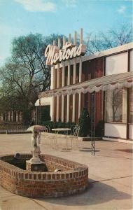 Chicago~Mortons Restaurant in Script Font @ 56th St~Dry Umbrella Fountain~1956