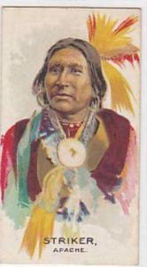 B A T Vintage Cigarette Card Indian Chiefs No 37 Striker Apache Tribe 1930