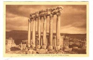 BAALBEK (Syrie), now Lebanon, 1910-30s ;  Temple de Jupiter ; Les 6 dernieres...
