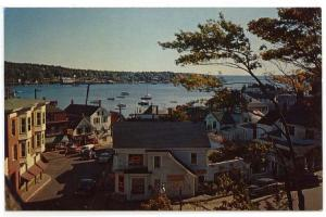 Boothbay Harbor, Maine, Early View of a Busy Commercial Street