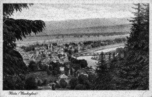 Hoxter Weserbergland Church River Bridge Panorama Postcard