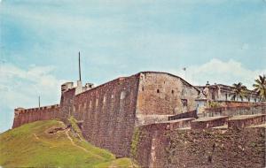 SAN JUAN PUERTO RICO~SAN CRISTOBAL-OLD SPANISH FORT-JOSEPH SQUIRES POSTCARD